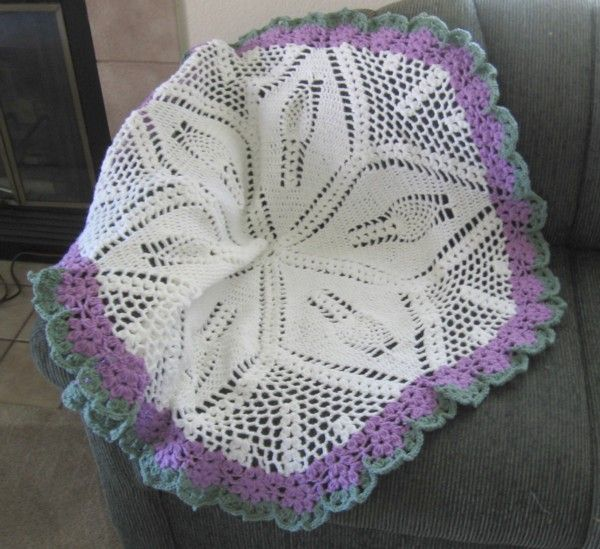 Crochet Pattern For Chevron Baby Afghan : ROUND